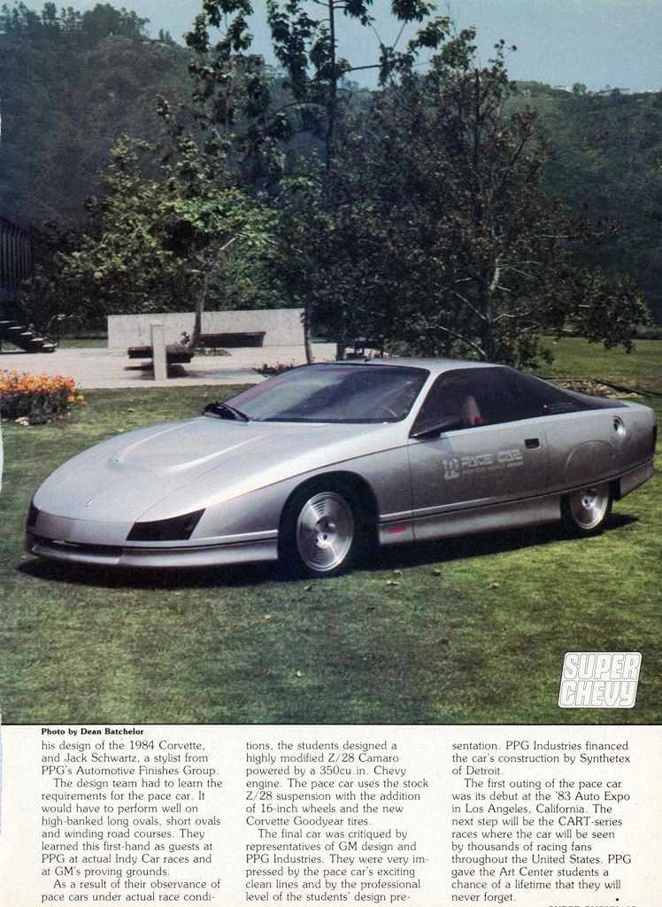 Chevrolet Camaro Z28 Concept 1983 PPG Pace Car