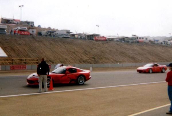 Dodge Viper PPG pace car in Laguna Seca-1999