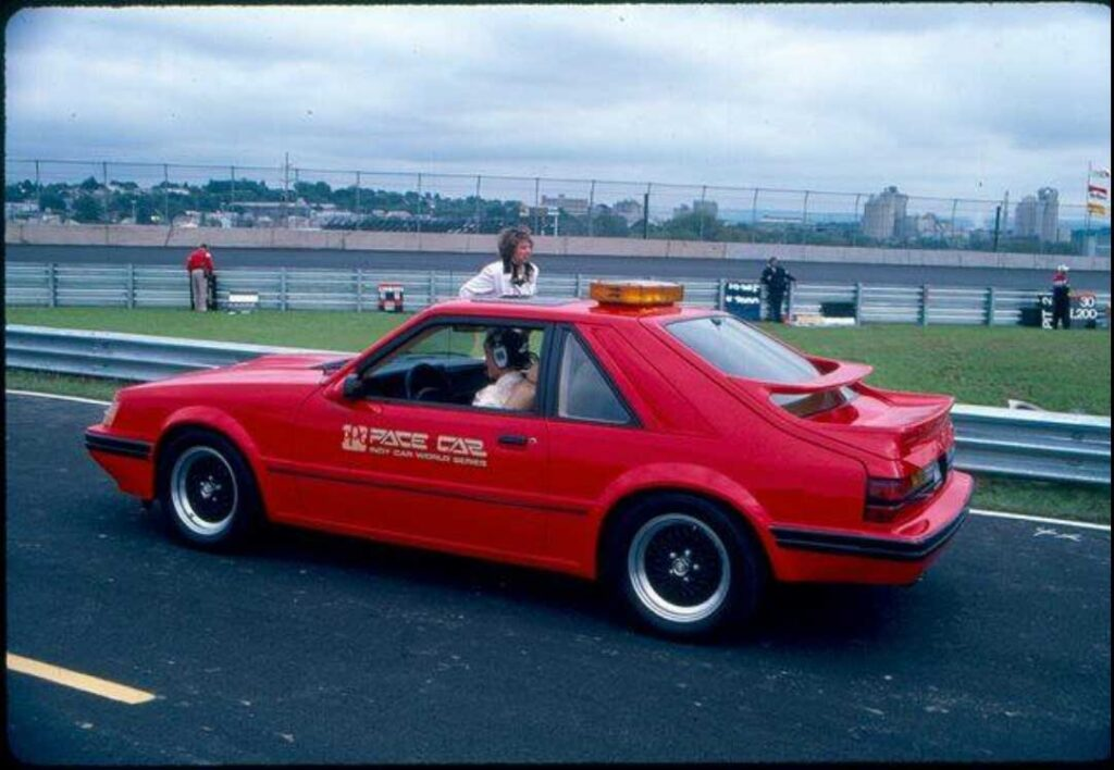 Ford Mustang SVO PPG Pace Car red