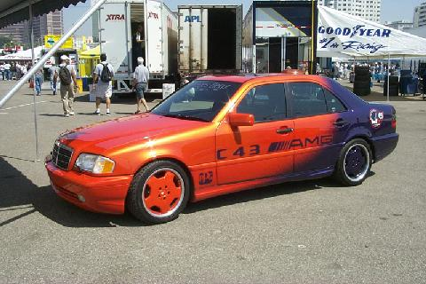 Mercedes Benz C43 AMG orange purple 1998 PPG Pace Car