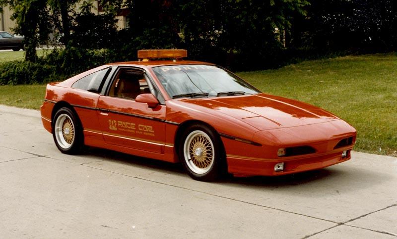 pontiac fiero gtp red 1985 ppg pace car