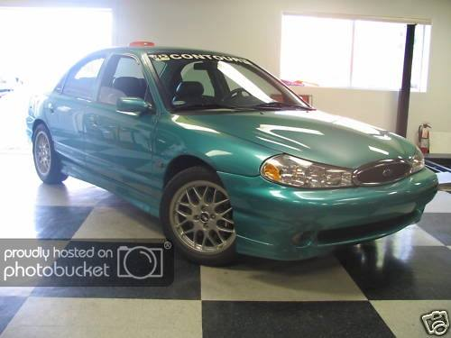ford contour svt green 1998 ppg pace car ppg pace cars ppg pace cars