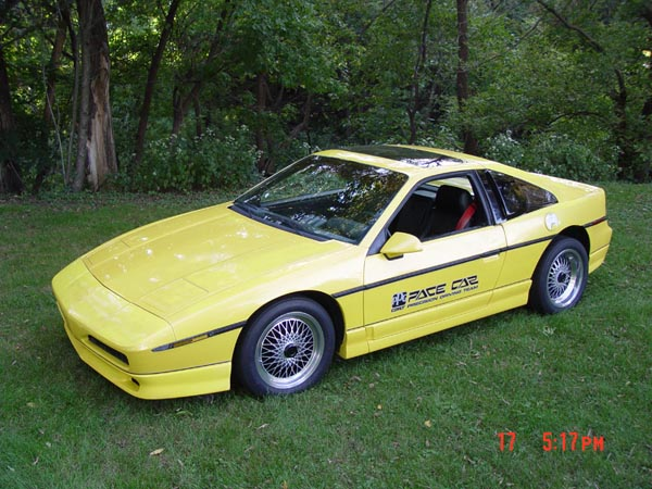 yellow pontiac fiero ppg pace car