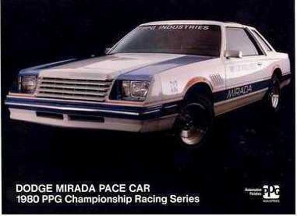 Dodge Mirada - 1981 PPG Pace Car