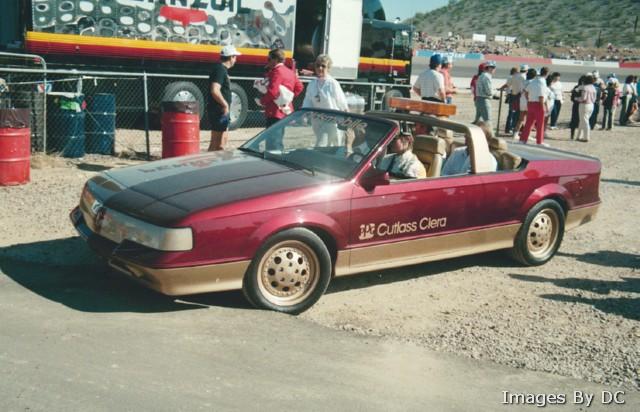 Oldsmobile Ciera 1983 PPG pace car curb