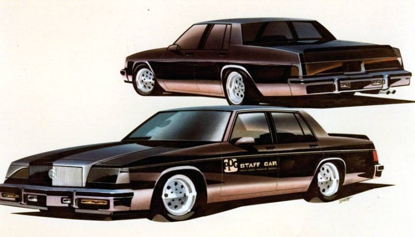 Buick LeSabre ppg staff car sketch